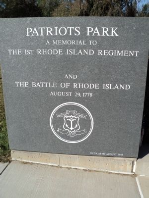 The 1st Rhode Island Regiment and the Battle of Rhode Island Monument image. Click for full size.