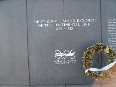 The 1st Rhode Island Regiment Marker image. Click for full size.