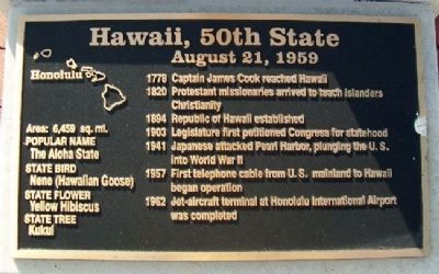 Hawaii, 50th State Marker image. Click for full size.