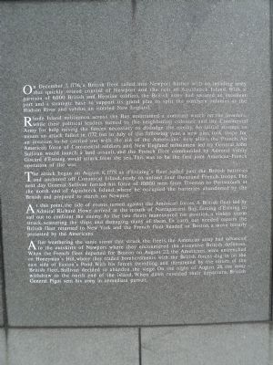 The Battle of Rhode Island Marker image. Click for full size.