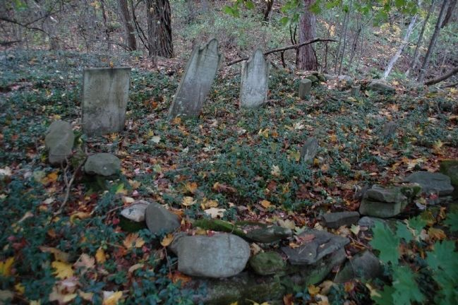 "<center>""<b>Buried Here</b>"" - Frederick Crounse Farm Cemetery image. Click for full size."