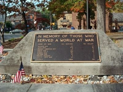 East Plaque - - Brown County Veterans Memorial Marker image. Click for full size.