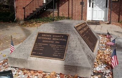 South Plaque - - Brown County Veterans Memorial Marker image. Click for full size.