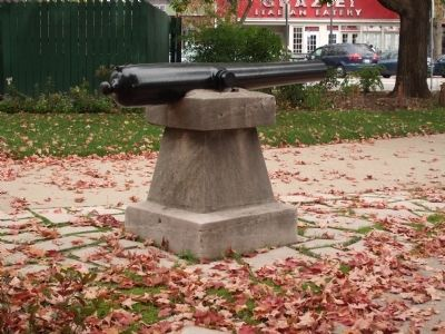 Obverse View - - Civil War Memorial Marker - 1864 Cannon image. Click for full size.