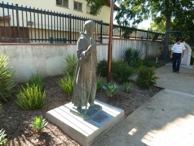 Father Junipero Serra Statue and Markers image. Click for full size.