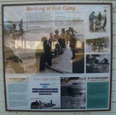 Working at Fish Camp Marker image. Click for full size.
