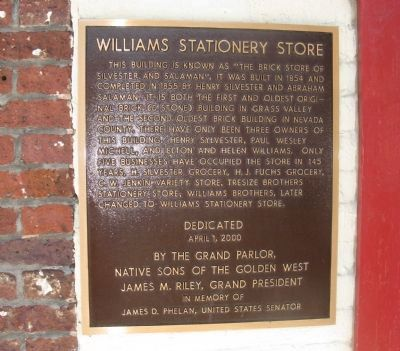 Williams Stationery Store Marker image. Click for full size.