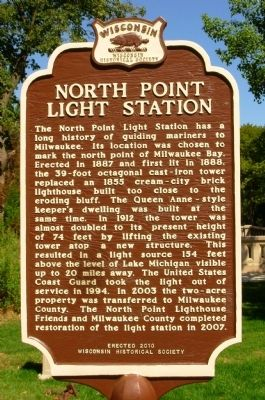 North Point Light Station Marker image. Click for full size.