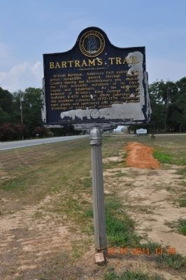 Bartram's Trail Marker side 2 image. Click for full size.