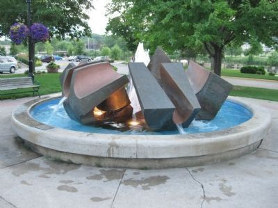Nearby Sheldahl Anniversary Fountain image. Click for full size.