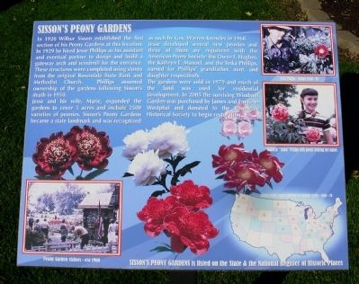 Sisson's Peony Gardens Marker image. Click for full size.