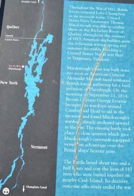 Battle of Plattsburgh Bay Story image. Click for full size.