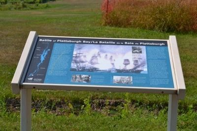 Battle of Plattsburgh Bay Marker image. Click for full size.