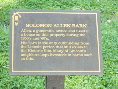 Solomon Allen Barn Marker image. Click for full size.