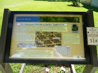 The Underground Railroad in Lincoln's Neighborhood Marker image. Click for full size.