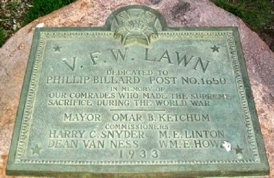 V. F. W. Lawn Marker image. Click for full size.