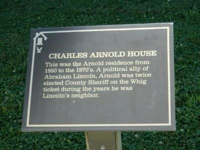 Charles Arnold House Marker image. Click for full size.