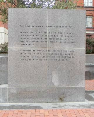 The General Dwight David Eisenhower Plaza Marker Panel 1 image. Click for full size.