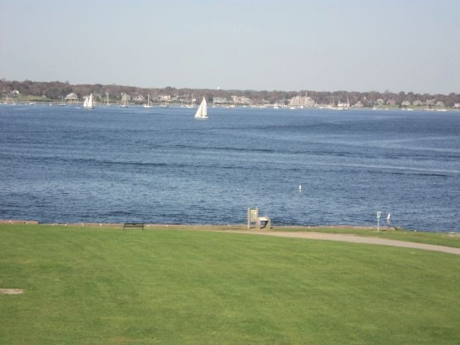 Marker on Narragansett Bay image. Click for full size.