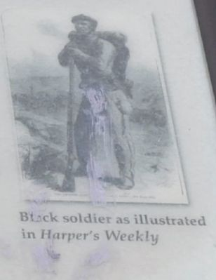 Black soldier as illustrated in Harper's Weekly image. Click for full size.