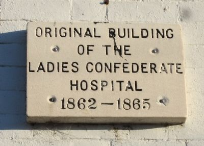 Ladies Confederate Hospital Marker image. Click for full size.