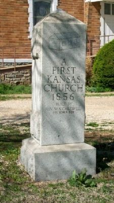 First United Brethren in Christ Church in Kansas Marker image. Click for full size.
