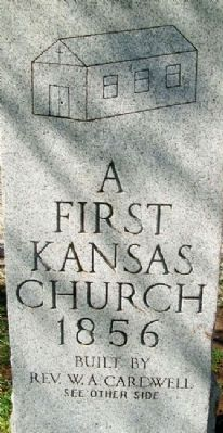 First UBC Church in Kansas Marker (front) image, Touch for more information