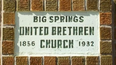 United Brethren in Christ Church Anniversary Stone image. Click for full size.