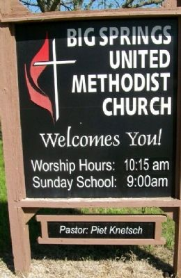 Big Springs United Methodist Church Sign image. Click for full size.