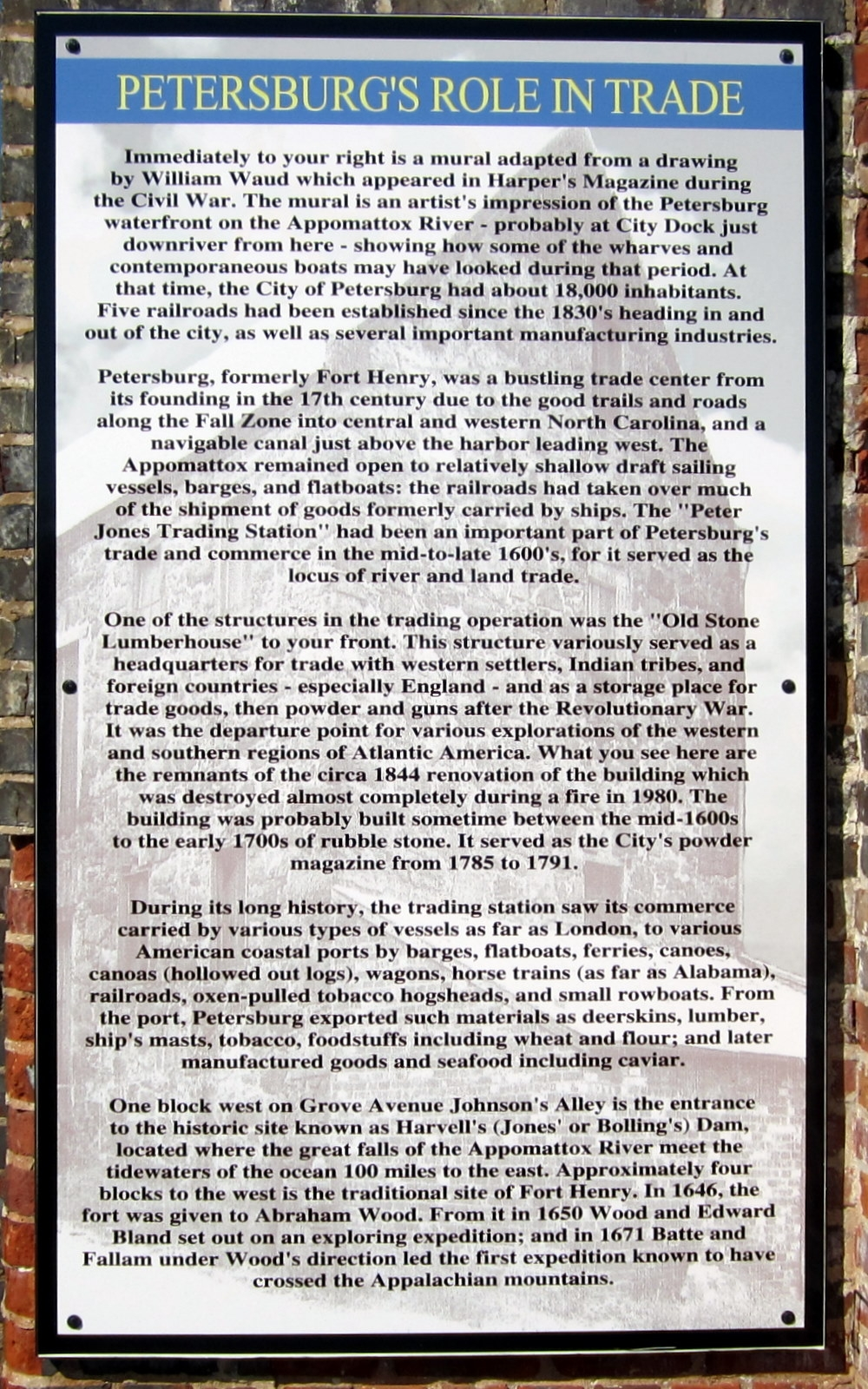 Petersburg's Role In Trade Marker