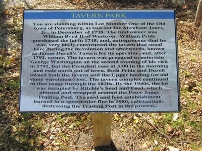 Tavern Park Marker image. Click for full size.