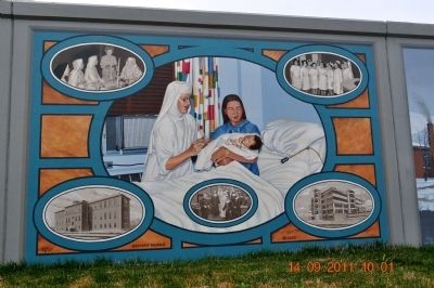 Riverside Hospital at Fort Anderson Mural image. Click for full size.