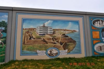 U.S. Marine Hospital Service Mural image. Click for full size.