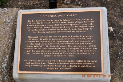 """Evening Roll Call"" Marker image. Click for full size."