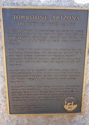 Tombstone, Arizona Marker image. Click for full size.