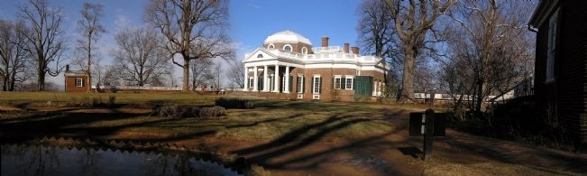Panorama of Monticello (1772) image. Click for full size.