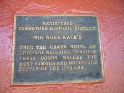 Plaque to the right of entrance. image. Click for full size.