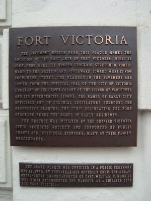 Fort Victoria Marker image. Click for full size.