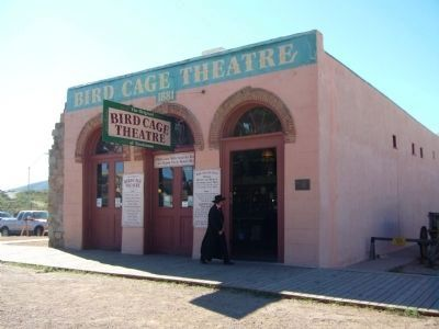 Bird Cage Theatre and Marker image. Click for full size.