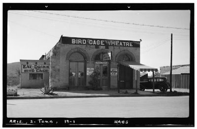 Bird Cage Theatre image. Click for full size.