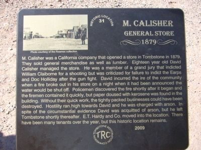 M. Calisher General Store Marker image. Click for full size.
