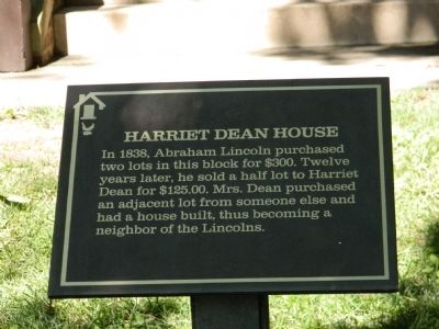 Harriett Dean House Marker image. Click for full size.