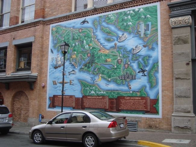 Vancouver Island Wallmap Mural Marker image. Click for full size.