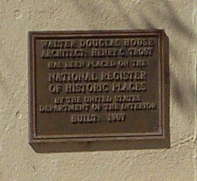 Walter Douglas House Marker image. Click for full size.