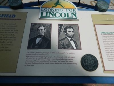 Lincoln's Springfield Marker - Center Panel image. Click for full size.