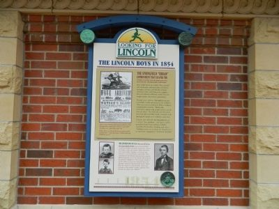 The Lincoln Boys in 1854 Marker image. Click for full size.
