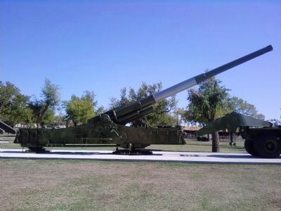Fort Sill's 'Atomic Cannon' image. Click for full size.