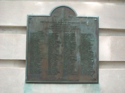Monroe County W.W. II Honor Roll Marker image. Click for full size.