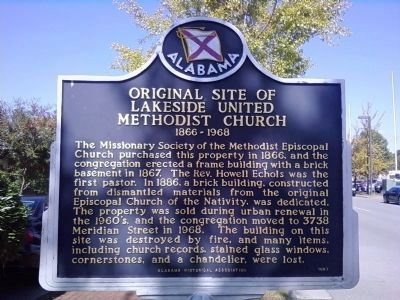 Original Site of Lakeside United Methodist Church Marker image. Click for full size.