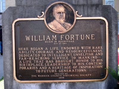 William Fortune - - (Marker - a few steps to the right.) image. Click for full size.